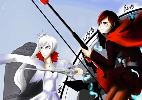 Weiss and Ruby by ARSONicARTZ