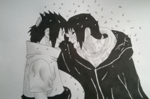 Sasuke and Itachi Uchiha by ogovaz