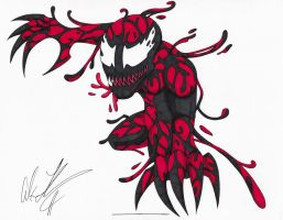 Red Lantern Tanis Carnage by toonartist