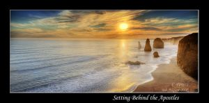 Setting Behind the Apostles by diablo2097