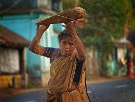 Woman in India... by Ikabe
