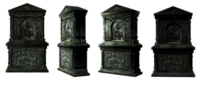 Tomb Stone set1 by mysticmorning