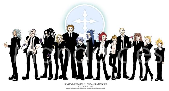 Organization XIII by mandachan