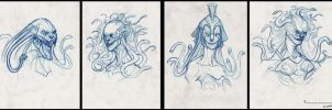 Medusa head designs by JSMarantz