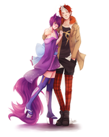 :C: Ji-Yunnie and JJ by Wernope