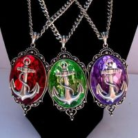 ANCHOR Pendant Necklace PURPLE by Horribell-Originals