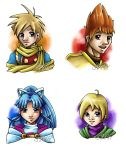 Golden Sun Busts by MintKitty
