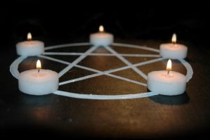 Candle Pentacle by ky-sta