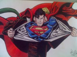 Superman - Lapis Pastel by Meneguitte
