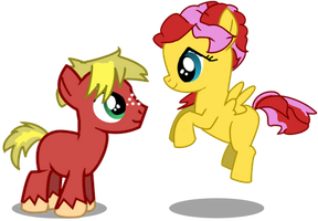 COMMISSION - Sunflower Breeze and Golden Sunshine by BigDream64
