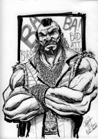 B.A. Baracus - Dine n Draw by SheldonGoh