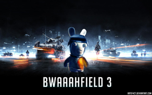 BWAAAHFIELD 3 Wallpaper Rabbids and Battlefield3 by ArteF4ct