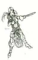 Concept Art of Warrior Girl by Bryce-Lee