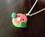 Peach-Faced Lovebird Necklace by MariposaMiniatures