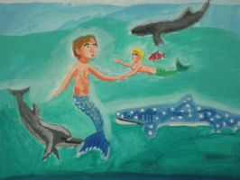 Mer father and Mer son by Caharvey