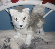 Malamute plush: front view by goiku
