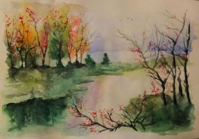Watercolour sketch by Musmy94