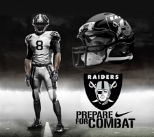 Oakland Raiders Away by DrunkenMoonkey