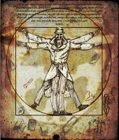 XMASGIFT: Rorschach Vitruvian Man by TheClawTheySay