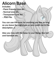 Alicorn Base by Xeshaire