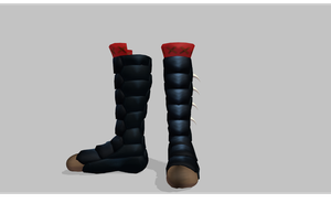 MMD Spiked guard boots by amiamy111