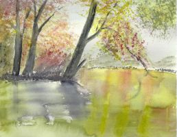 River in the fall by Lifeisagift743