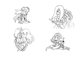My fav chibi Espada couples by superaura