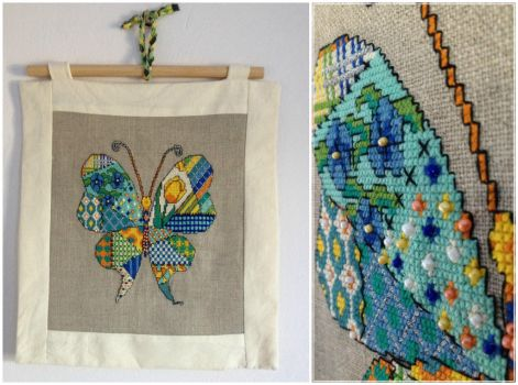 Patchwork Butterfly by Ammeih