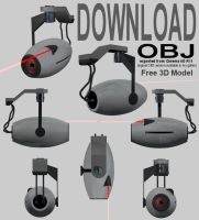 Download - Portal Camera OBJ by 100SeedlessPenguins