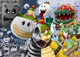 Bowser's Army ::Coloured:: by dayjohnson