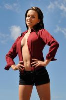 Lauren - red shirt 5 by wildplaces