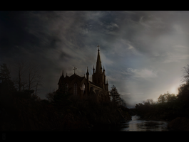 Church, matte #13 by AlexanderConcept