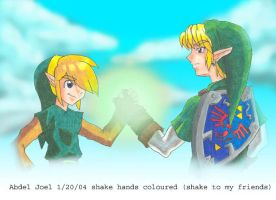 shake hands coloured by Mast3r-sword