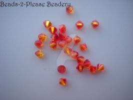 4mm Fire Opal Swarovski Crystal Bicone Beads by beadclass