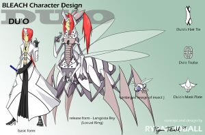 Bleach OC design: Du'o by PixelMagus