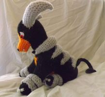 Houndoom Plushie by PixelCrochet