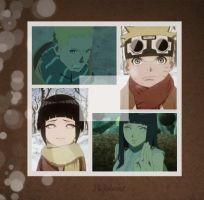 Naruto and Hinata Collage Wallpaper by weissdrum