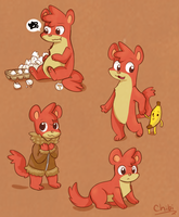 I.M. Weasel by chibitracydoodles