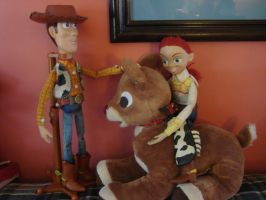 Woody, Jessie, and Rudolph by spidyphan2