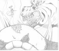 thor vs Midgard serpent by 2numb2relate