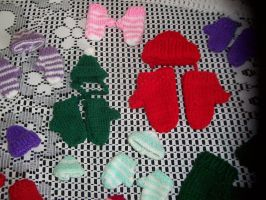 Hand-Knitted Hats N Mittens by IMMoonDancer