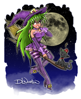 Hot Witch and Fez Cat by DLNorton