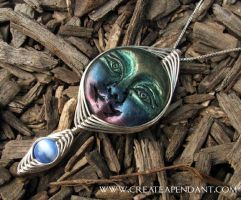 Wire Wrap Moon Goddess Pendant by Create-A-Pendant