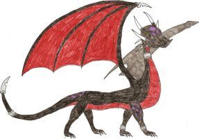Cynder the Black Dragoness by DragonofDarkness1992