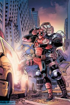 Deadpool and Cable: Split Second issue 2 by ReillyBrown