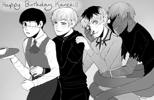 [SPOILERS-ish] Happy birthday kaneki! by shiganshina-trio