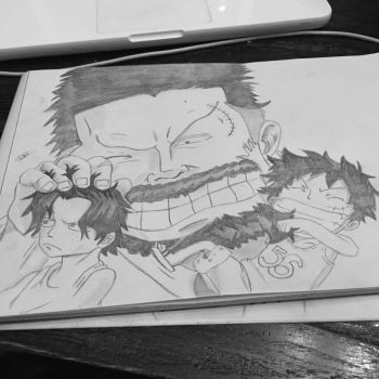 Ace - garp - luffy  by dakotaaaaaa-chan