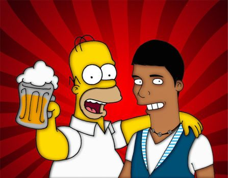 A beer with Homer by orl-graphics