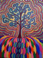 psychedelic tree by andromedenebulosity