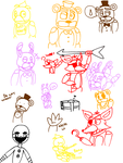 Fnaf sketches + starting a comic? by DummyHeart